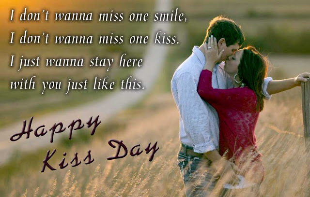Kiss Day Wallpapers free download with text