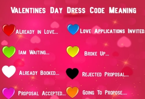 Valentine's Day Dress Color Code Meaning